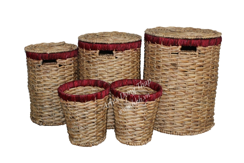 Water hyacinth basket for home decor and furniture - SD7000A-5NA