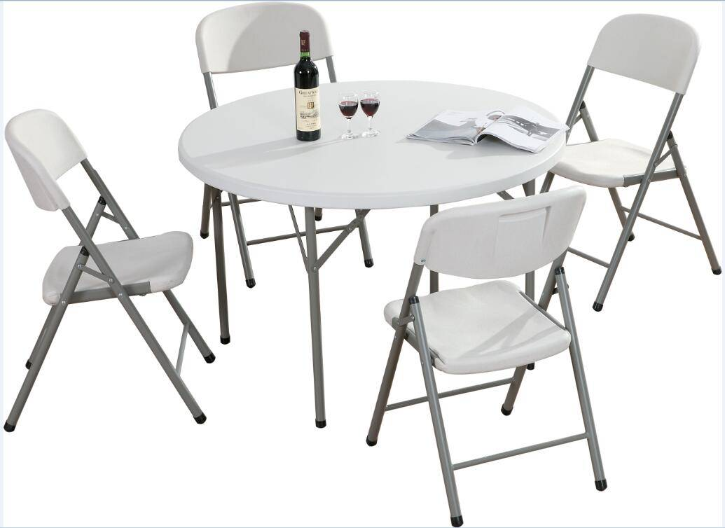 Round Plastic Folding Dining Table for Outside Events(YCZ-122R)