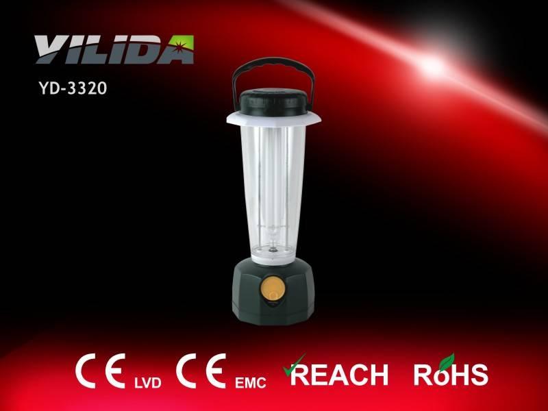 Yilida YD-3320 camping light, Fluorescent tube plus bulb