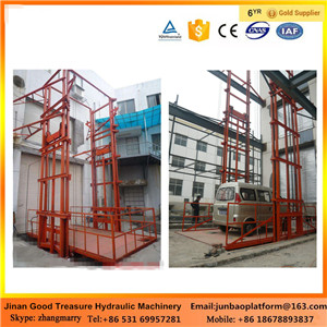 Most popular guide rail chain motorcycle lift construction platform lift