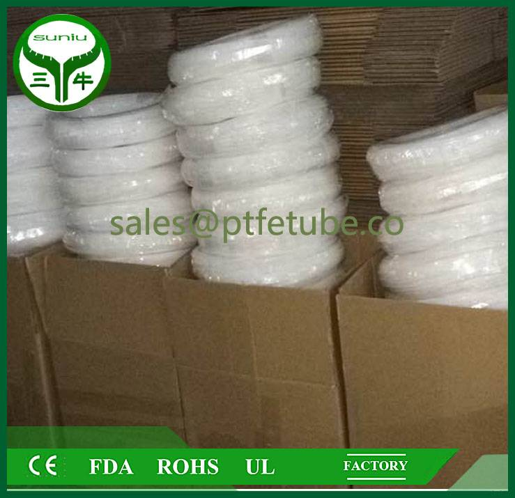 FEP clear heat shrink tube , ptfe convoluted tube pipe hose tube / suniu