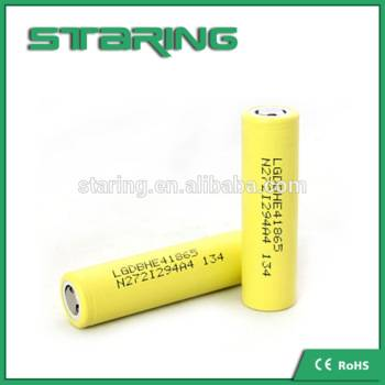high drain discharge current 20A rechargeable 3.7v 2500mah LGDBHE41865 li-ion 18650 battery LG HE4