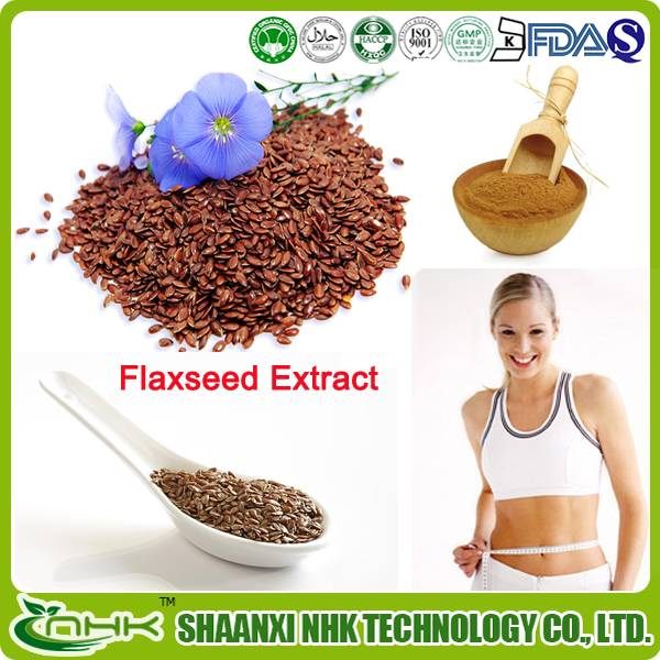 GMP China supplier high quality natural and pure flaxseed extract powder