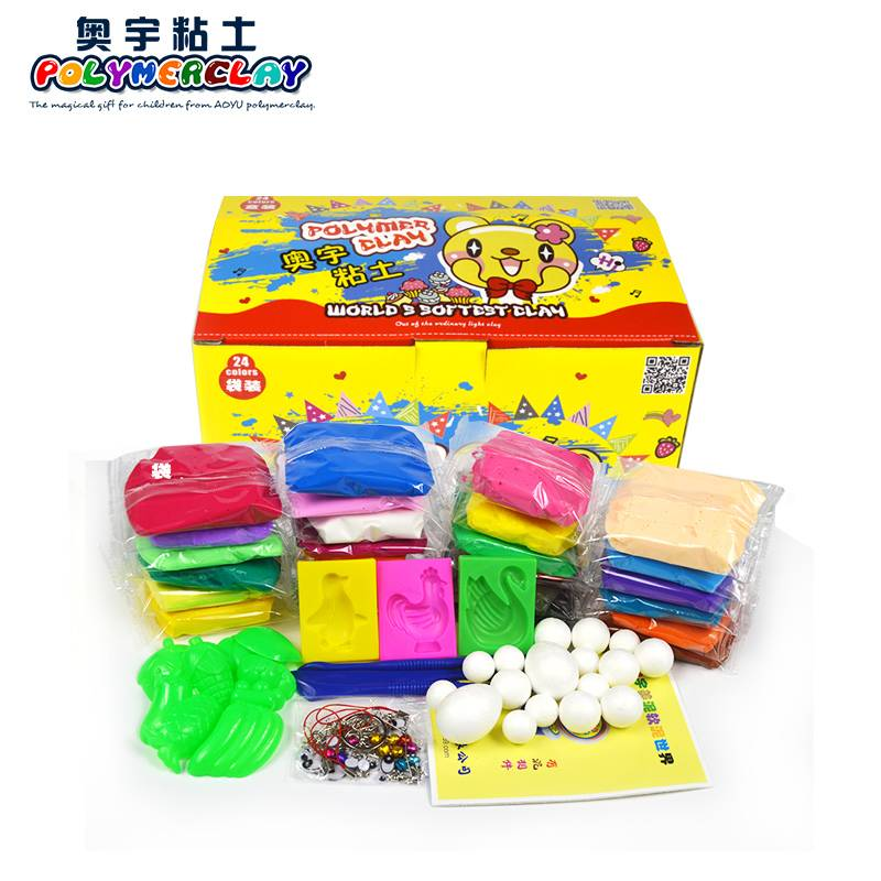 24 colors DIY non-toxic super light modeling clay