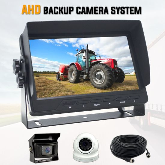 HD Crane Truck Backup Camera Observation System with 12V to 32V DC Voltage and IP67 Rear & Dome Came