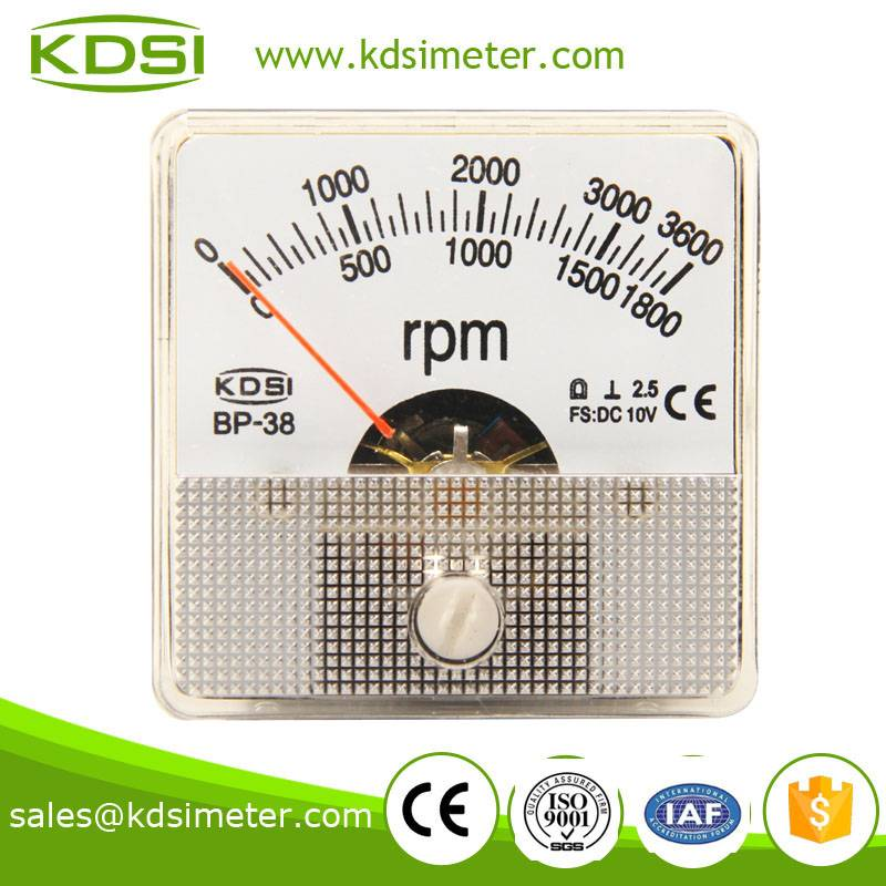 Classical waterproof BP-38 DC10V 3600RPM high quality tachometer