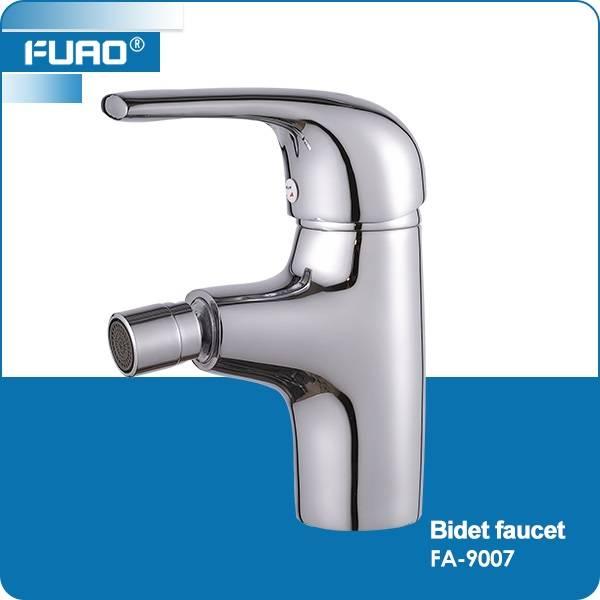 Deck mounted brass chrome bidet faucet