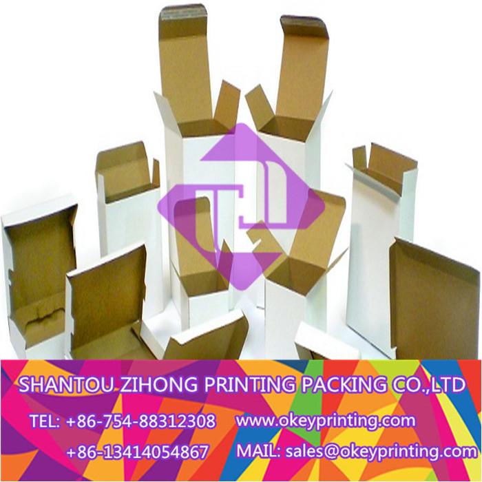 printing white shipping carton