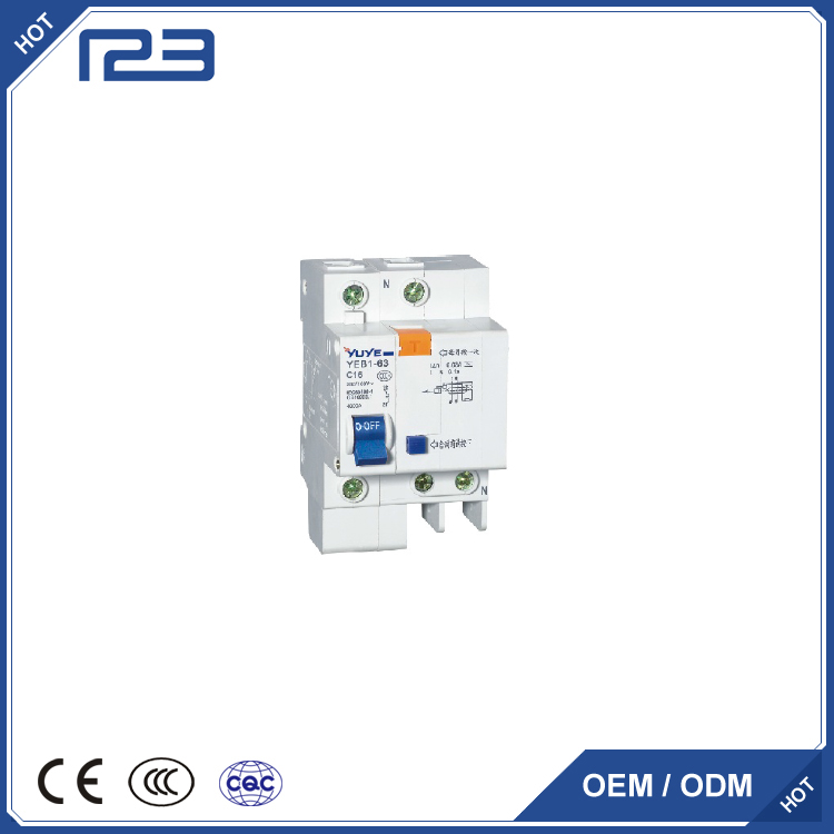 YEB1L 1-63A Earth leakage circuit breaker(RCCB) C45L