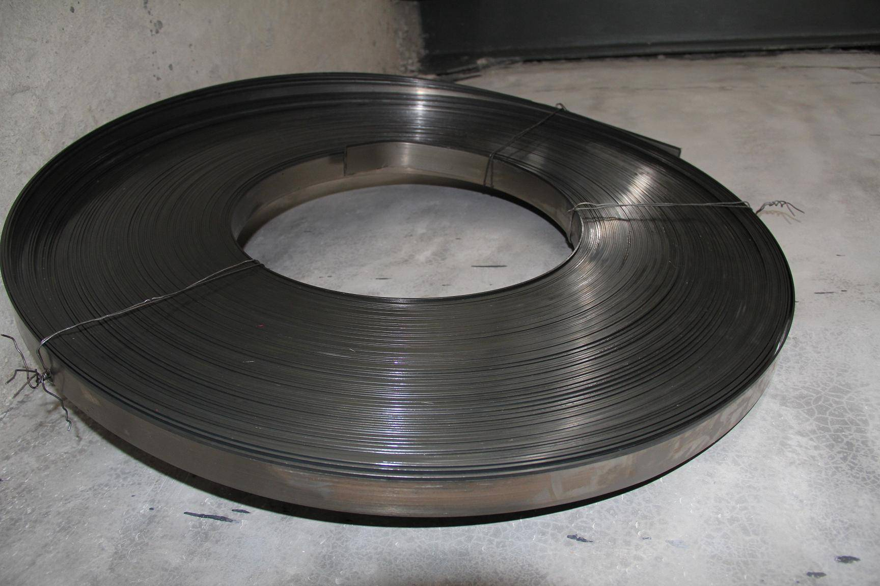Bimetal strips for band saw blade producing
