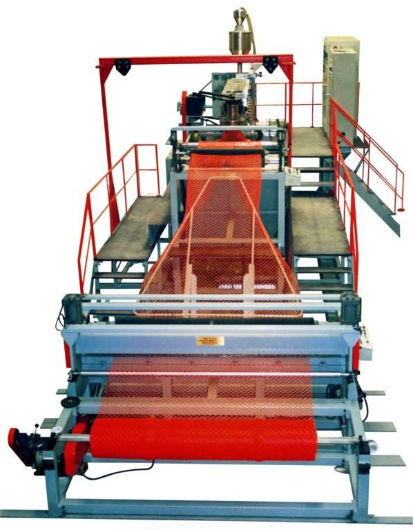 Plastic geonet production line