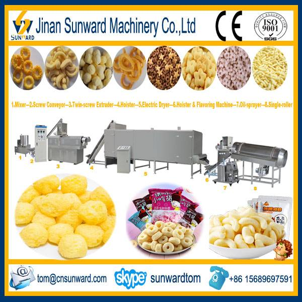 Hot Selling Puffed Corn Snacks Food Extruder