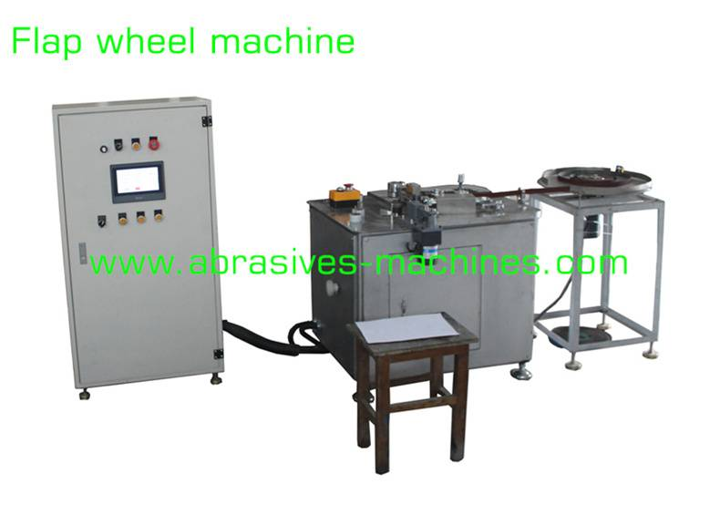Flap wheel machine