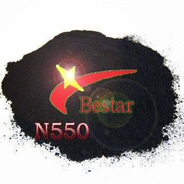 Rubber reinforcing carbon black N550