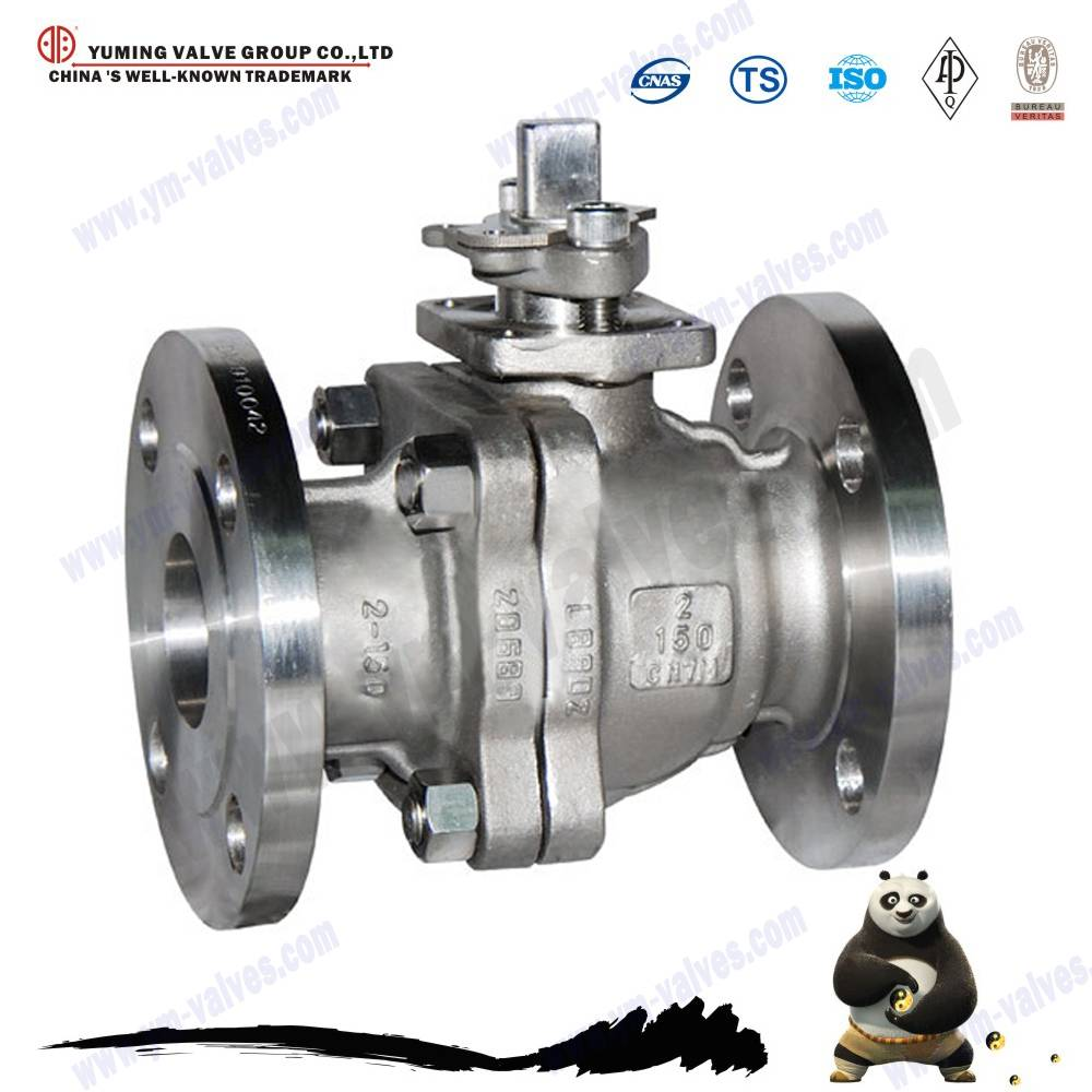 high quality cast steel flange ball valve