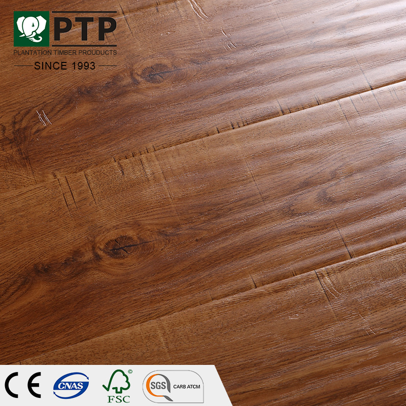 12mm Inovar Long Planks Synchronized Woodgrain Storm Grey Wood Embossed Laminate Flooring