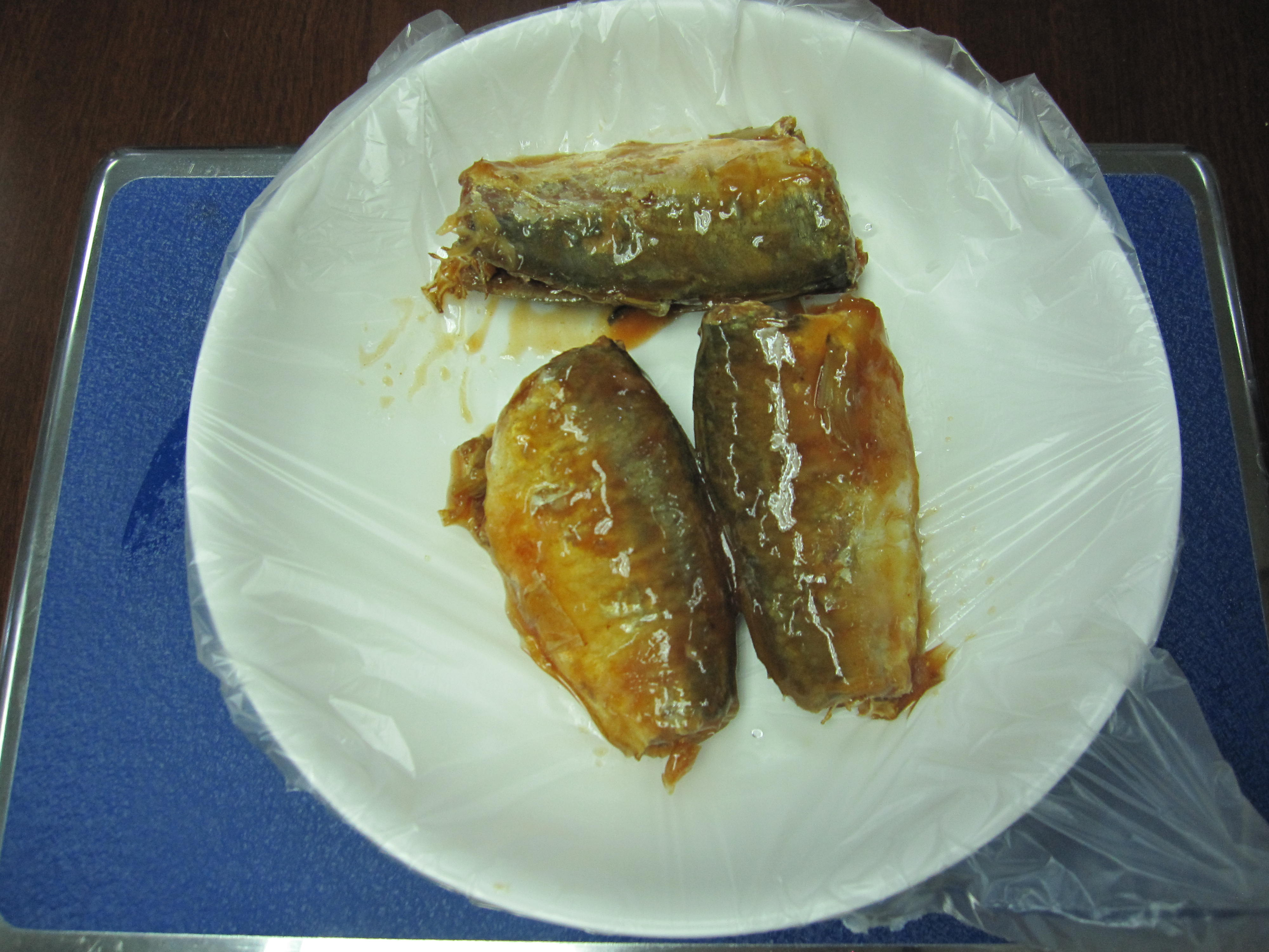 cannedJack Mackerel in Tomato Sauce(425g/240g)l,canned fish manufatcurer, cylinder can, halal, haccp