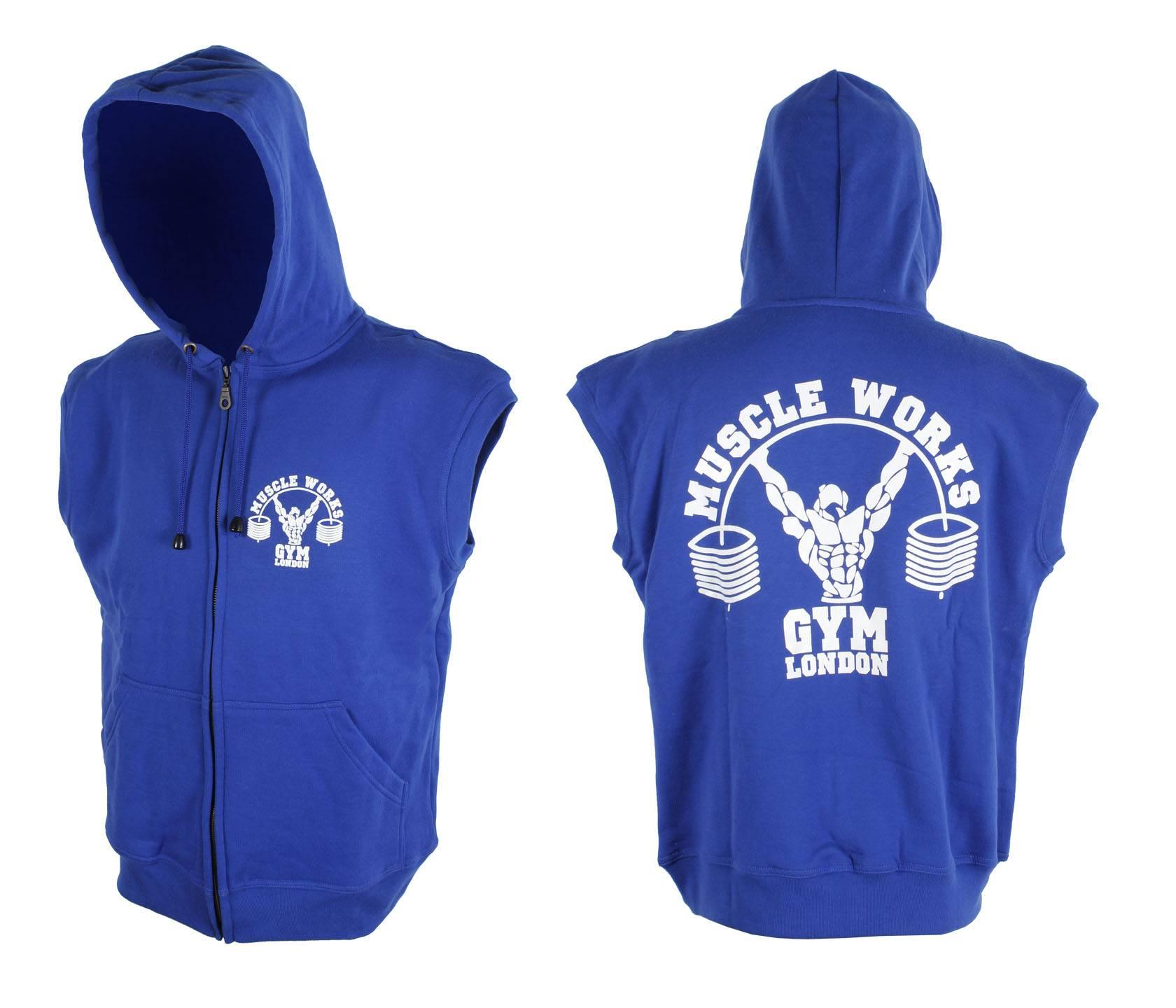 Customisible GYM Sleeveless Hooded Sweatshirts