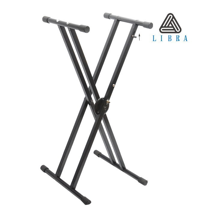 Libra Deluxe Double-X Keyboard Stand with Clutch Locking Mechanism KS-08