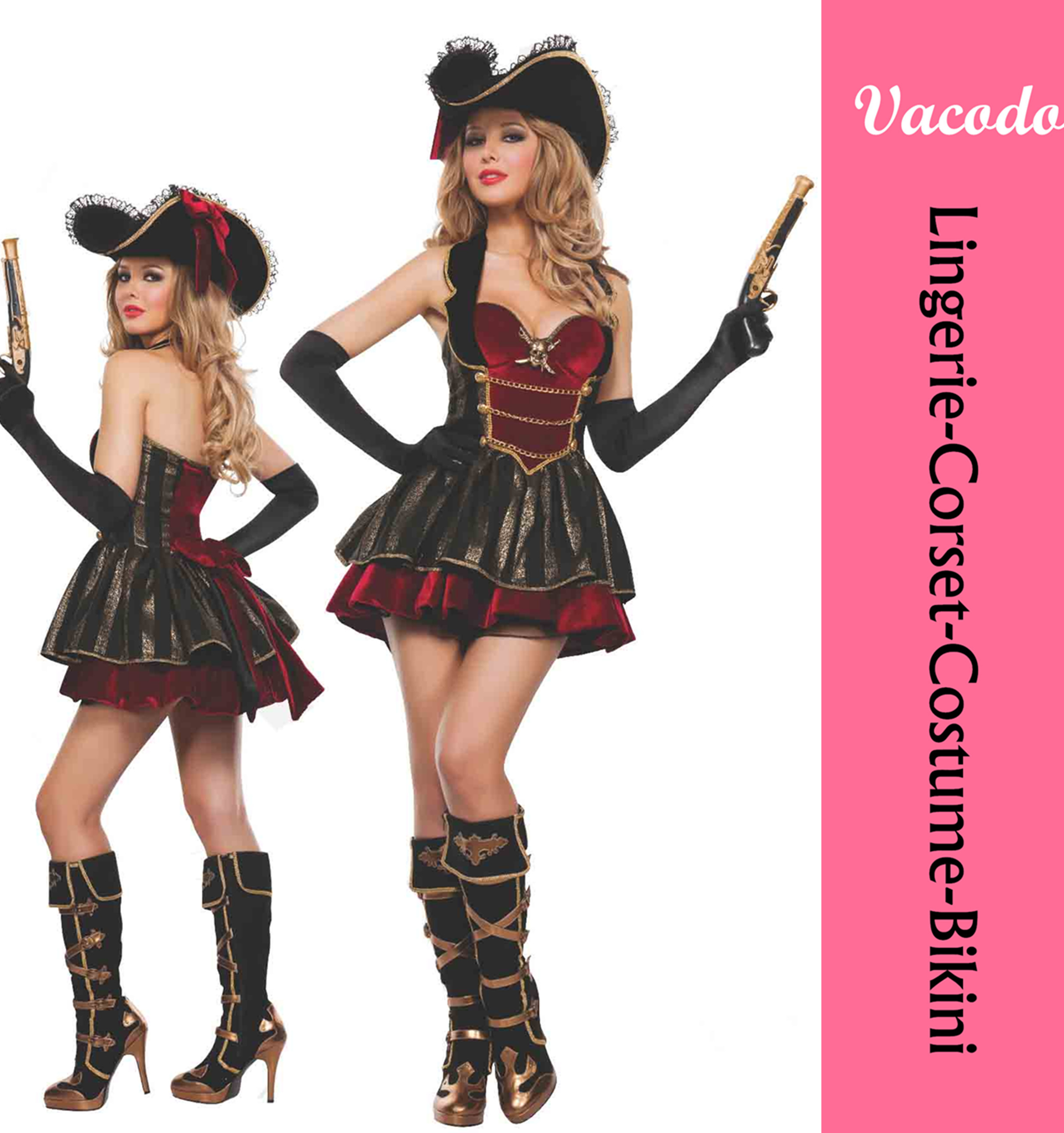 Vacodo plus size custom christmas costumes sexy party costumes for women