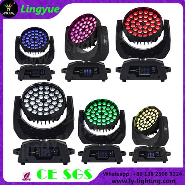 36X18W RGBWA UV 6in1 zoom led beam moving head light