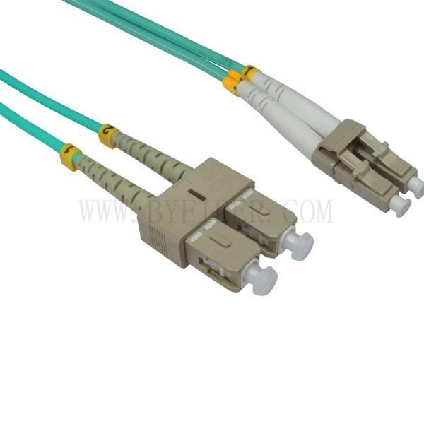 LC TO SC 50/125 OM3 Duplex Multimode Fiber Optic Cable