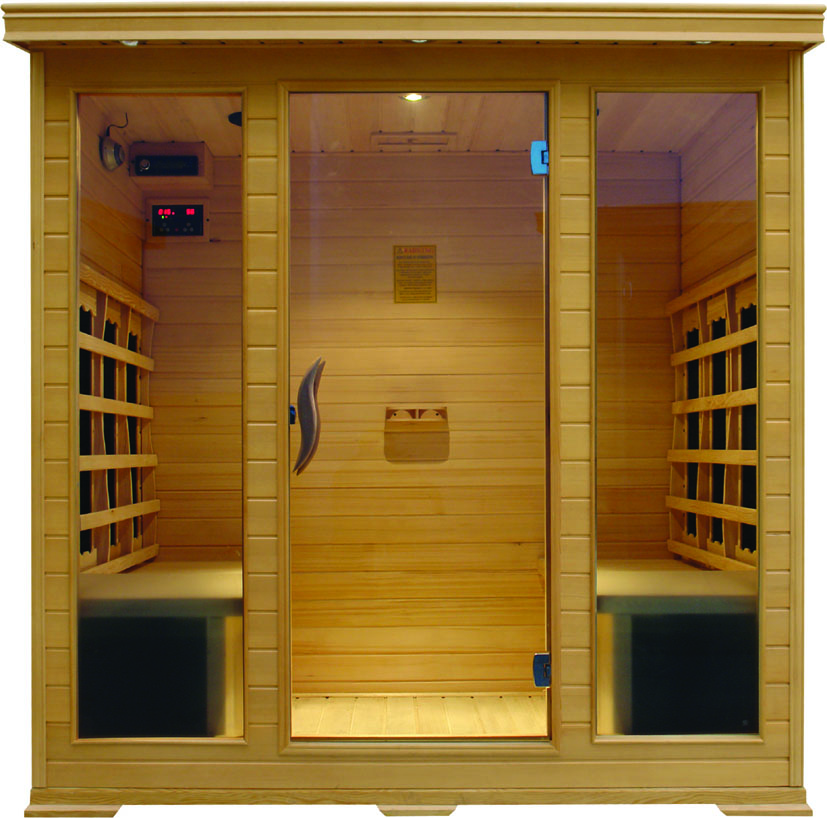 2018 Manufacture price solid wood dry steam infrared sauna room