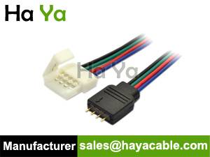 4-Pin Male Connector Connection Cable for SMD 5050 RGB LED Light Strip