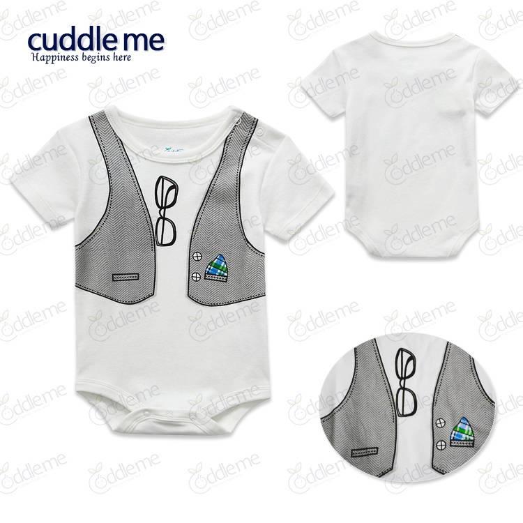 wholesale cuddleme baby bodysuit romper gentenman panties