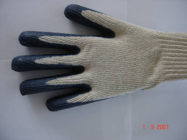 latex coated cotton knitted work glove