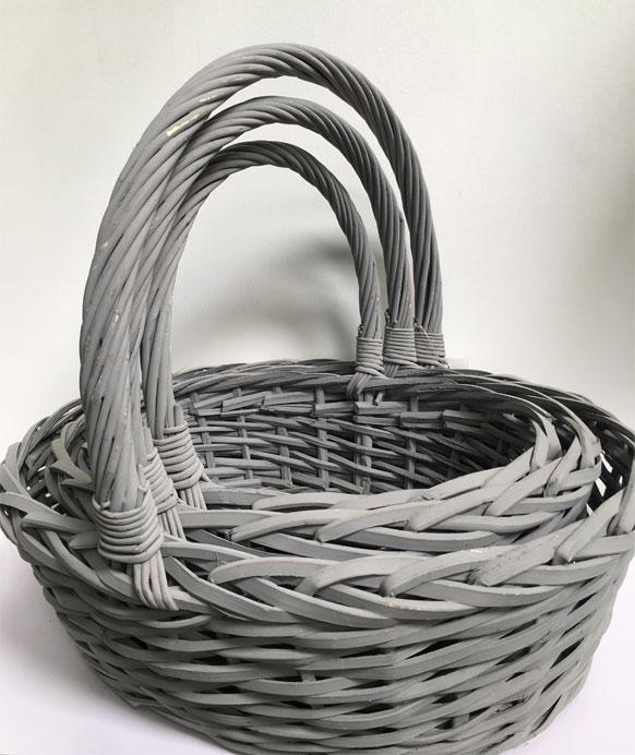 cute christmas basket xmas gift basket with handle distributor