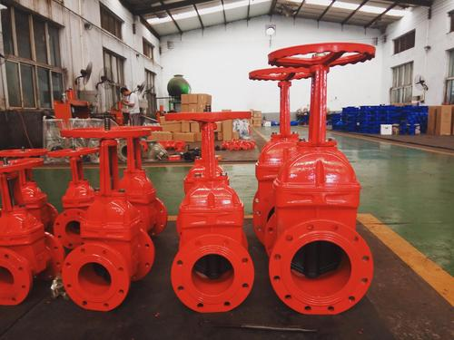 Ductile iron rubber wedge gate valve AWWA C515 UL FM