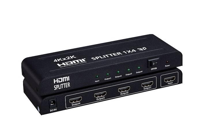HDMI Splitter 1x4  Support 4K*2K  3D