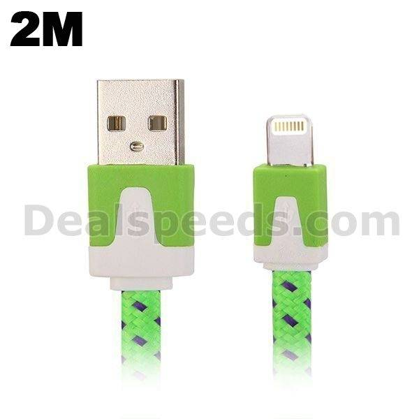 2M Fashion Style 8 Pin to USB Charging Cable for iPhone 6,6 plus,iphone 5,5s,5c