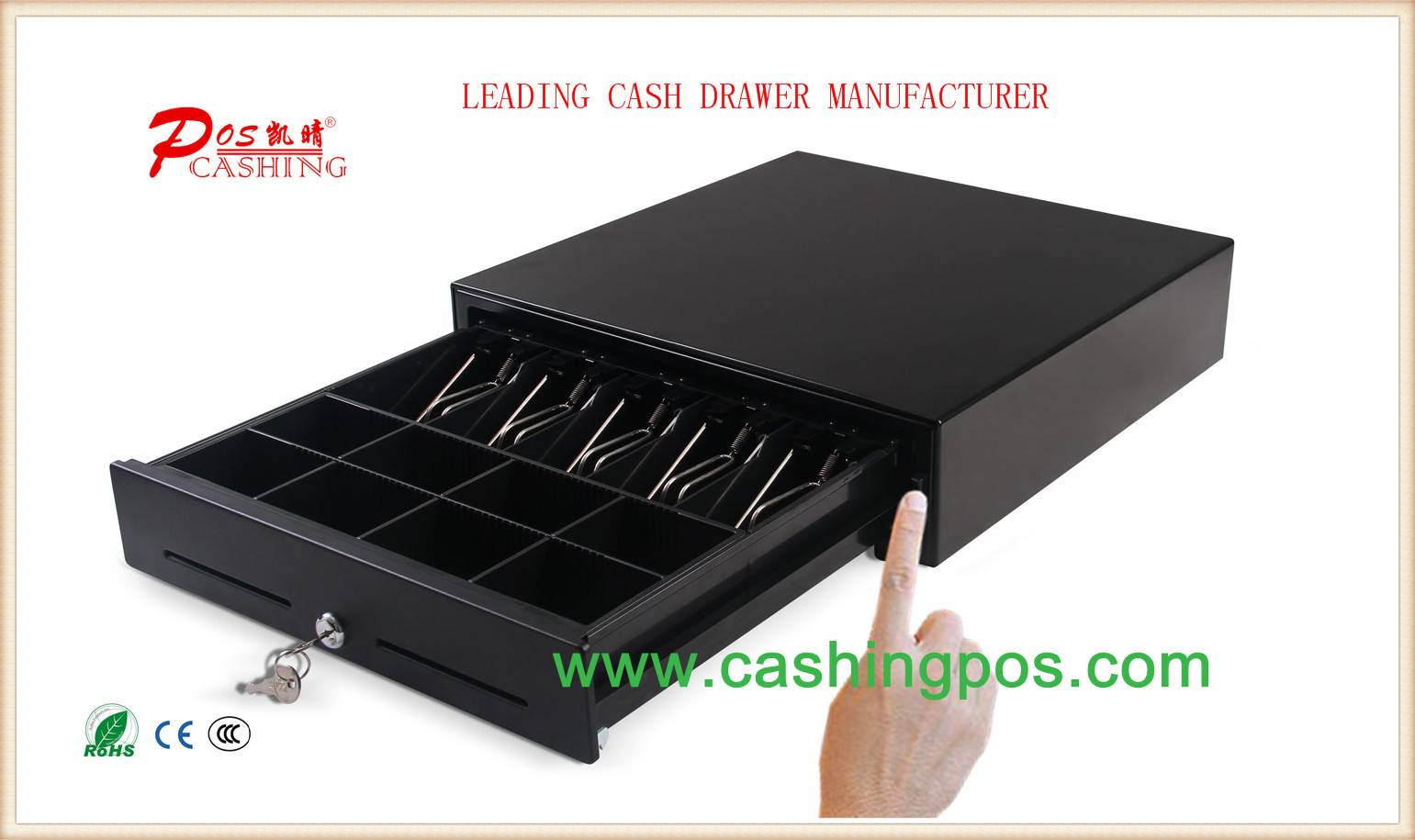 QM-410 Manual Cash Drawer