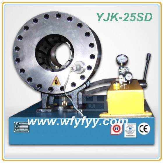 Manual Power Pipe Processing YJK-25SD Hydraulic Pressing Machine
