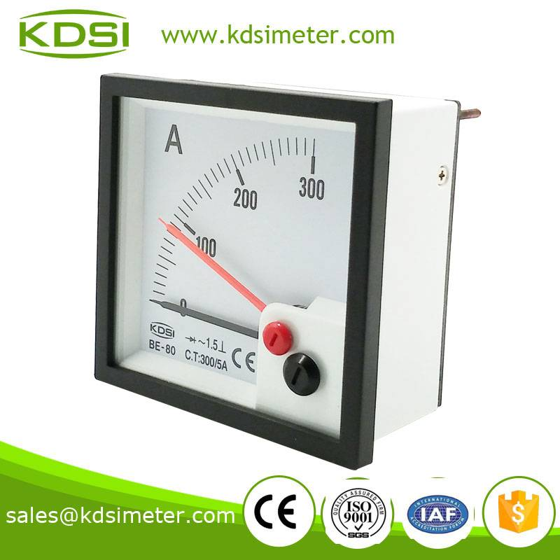 Easy installation BE-80 AC300/5A double pointer with rectifier ammeter