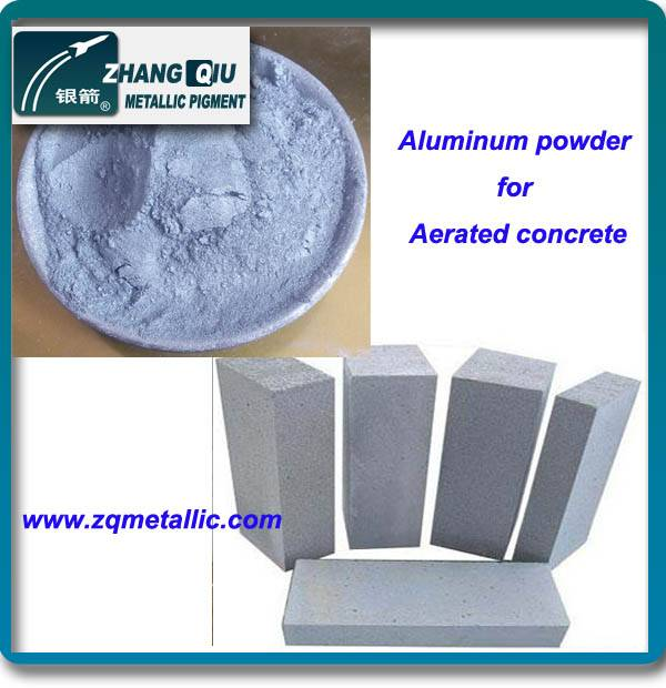 Aluminum flake pigment for aerated concrete