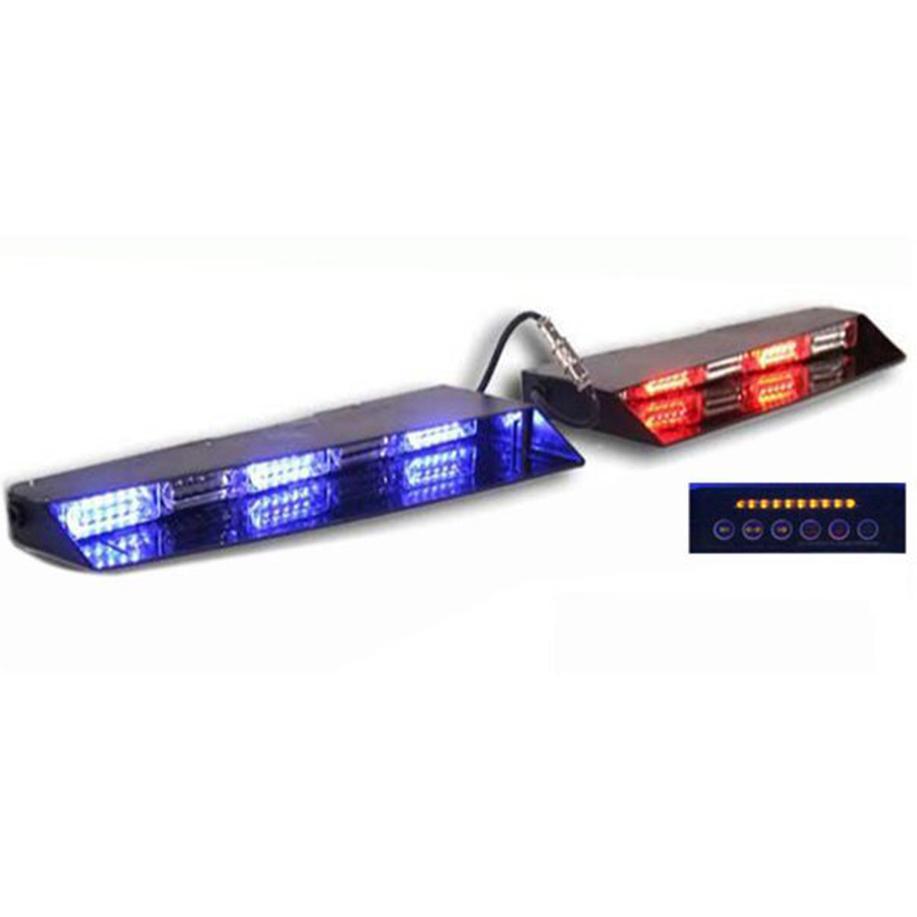 6leds/Module LED strobe dash visor windshield mount warning lightbar
