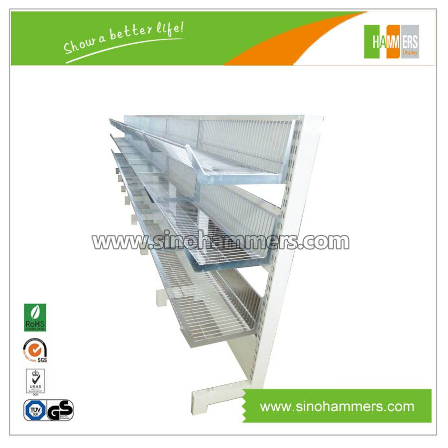wire mesh for display shelving