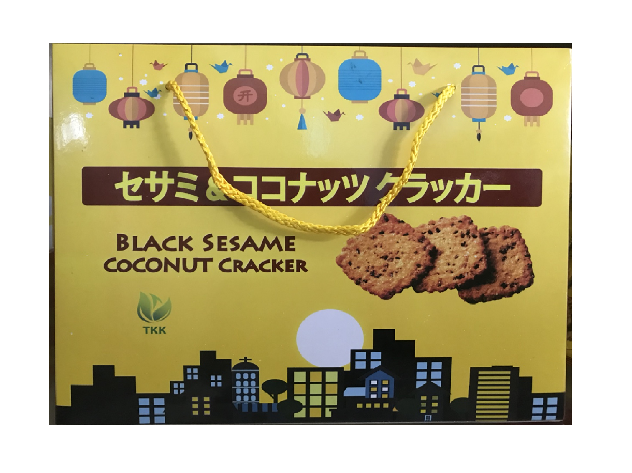 Black Sesame Coconut Cracker 400g bag