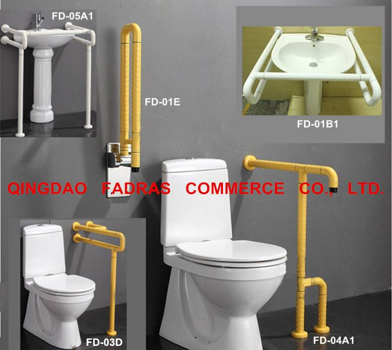 Low Price Bathroom Disabled Handrails/Toilet Plastic Grab Bar for Elderly