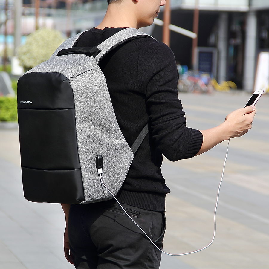 Anti Theft Backpack Kingslong New Business USB Backpack Anti Theft