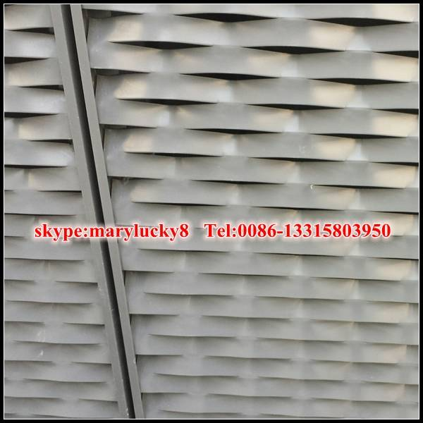 exterior wall panel Aluminum expanded metal facade