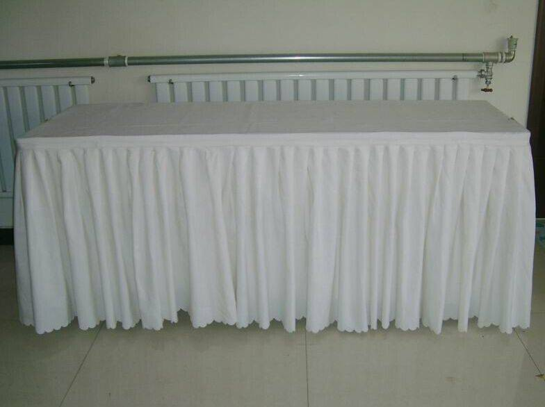 table skirt for wedding decoration