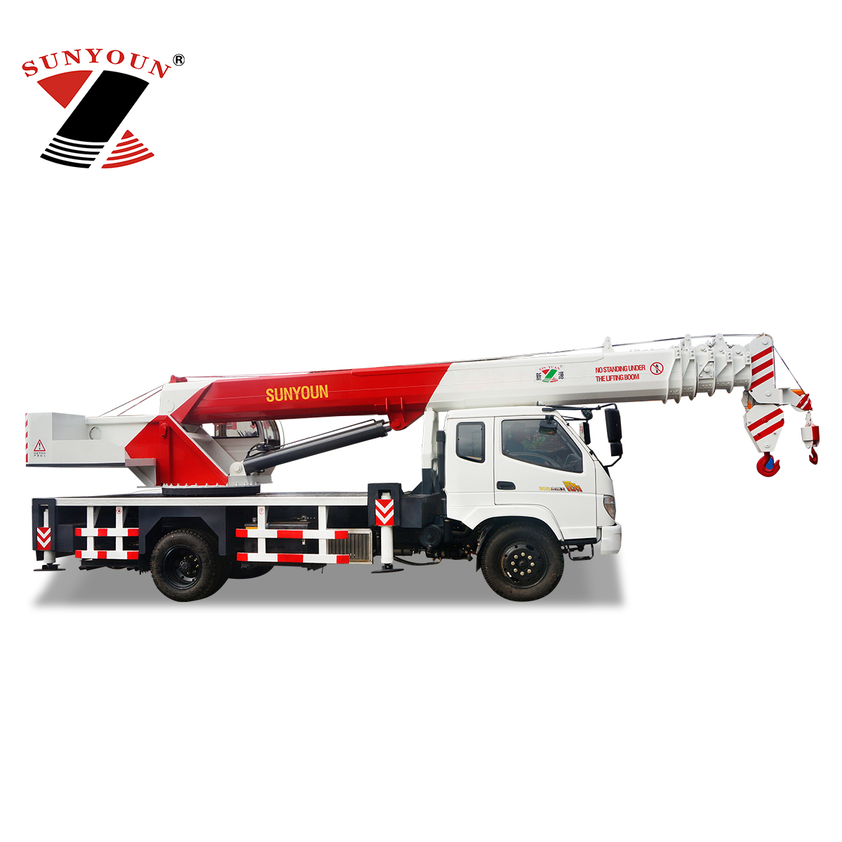 China SUNYOUN 3.2-16 Ton Truck Lifting Mobile Crane for Sale