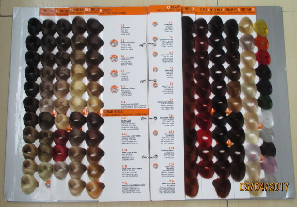 hair color chart manufacture