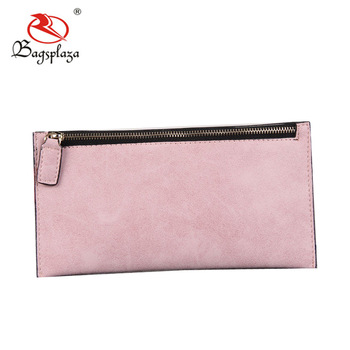 Guangzhou factory bottom price faux suede card holder woman wallet