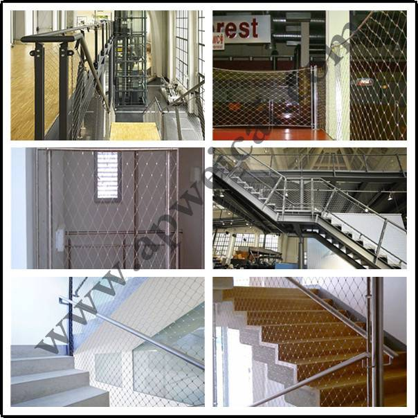 wire rope mesh fence
