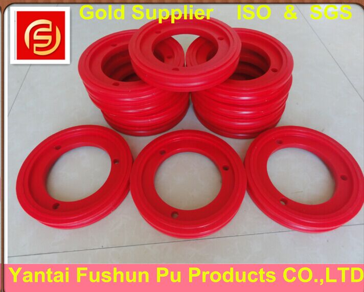 PU Abrasion Resistance Wheel for Stone Polishing Industry / Wire Saw Machine Fly Wheel